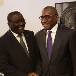 Le Consul Idrissa SEne avec Le Ministre MAESE Sidiki KABA