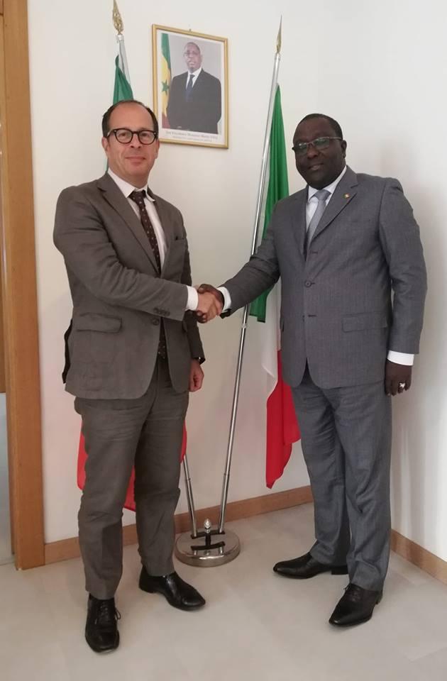 Visite du consul général de France à Naples