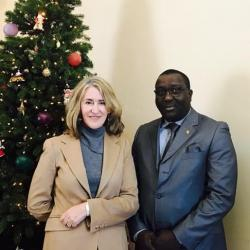 Avec Mary Ellen Countryman consul USA