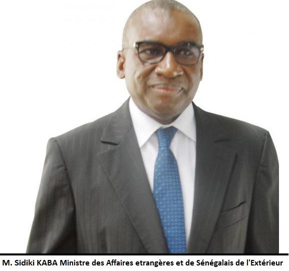 Monsieur Sidiki KABA Ministre des Affaires Etrangères et des Sénégalais de l'Extérieur